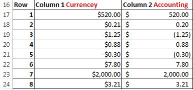 Currency vs Accounting screenshot