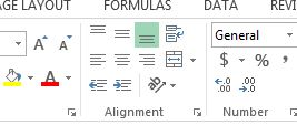 alignment toolbar